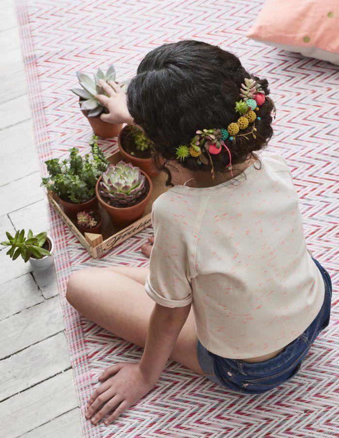 Faire un petit peigne homemade à base de plantes et de succulentes pour les cheveux!