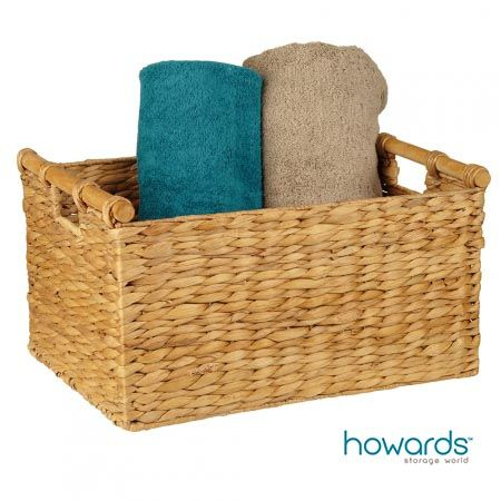Bring a natural, earthy look to your home decor with this water hyacinth basket. Made from one of the world's most abundant and fast growing plants, this basket has sturdy handles  and can be used right throughout your home. From paperwork and stationary to laundry distribution  and archive storage, this basket is versatile, functional and hardwearing. Available from Howards Storage World. #howardsstorage #christmaswishlist