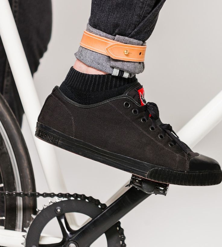 Leather Bike Pant Leg Strap | Made with pants-wearing cyclists in mind, this leather pant le... | Bicycle Accessories