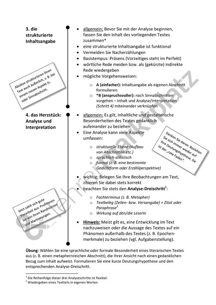 Analyse und Interpretation: Leitfaden - für alle literarischen Texte; Kurzgeschichte, Gedicht etc. [word + pdf], mit Formulierungshilfen - Seite 2