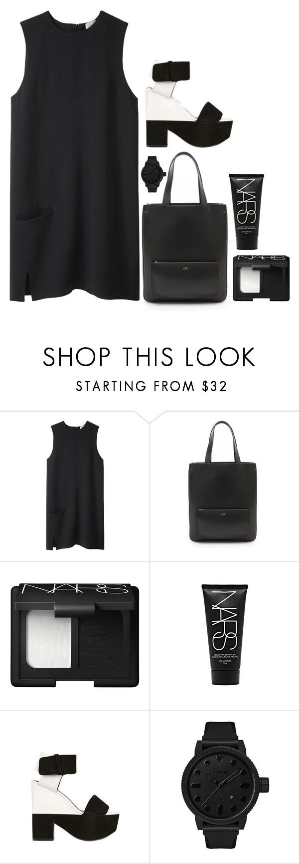 """""""Ew"""" by m0ments ❤ liked on Polyvore featuring Acne Studios, A.P.C., NARS Cosmetics, CÉLINE and Tsovet"""