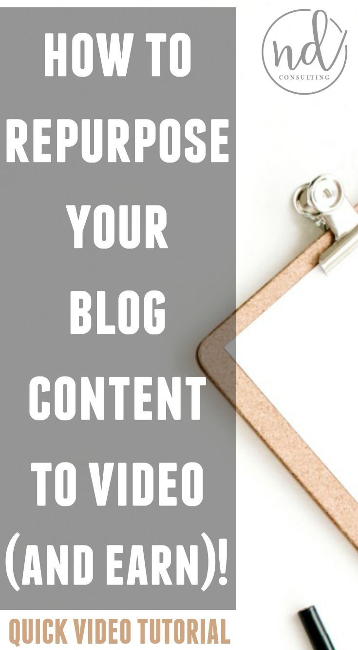 Learn How To Repurpose Blog Content To Video And Make More Money With Your  Blog