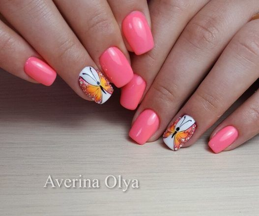 nail art designs of butterfly