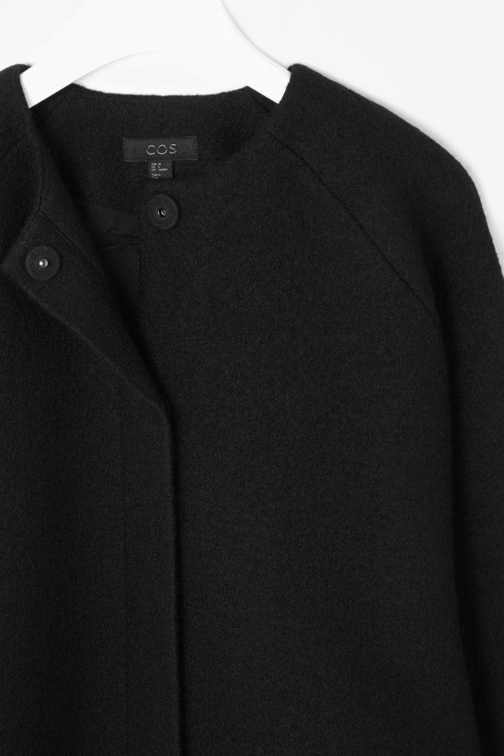 A-line wool coat