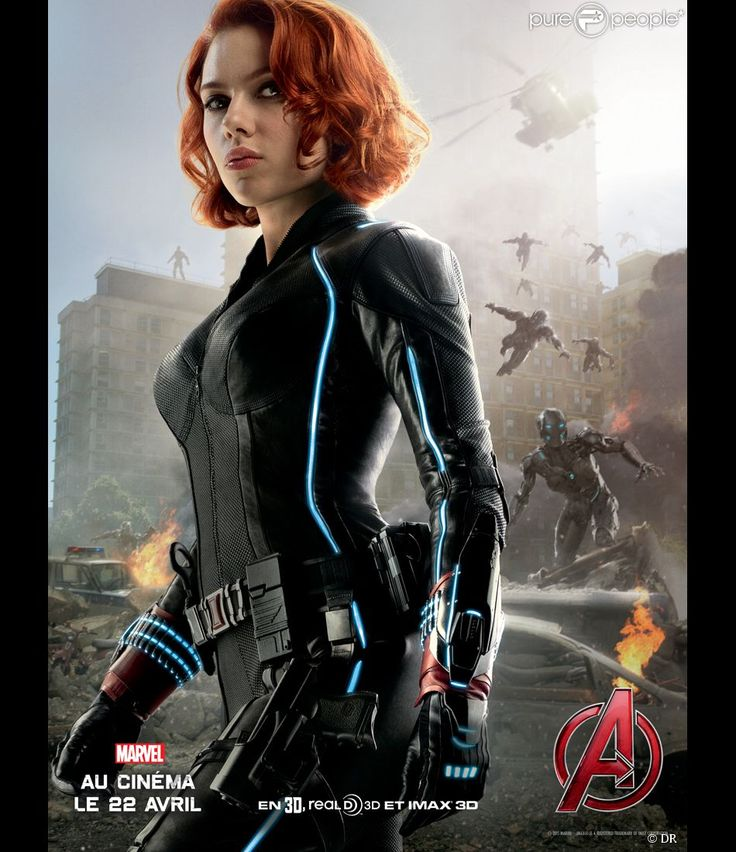 avengers films   Affiche du film Avengers - L'ère d'Ultron avec Scarlett…