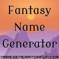 The Fantasy Name Generator: Naming characters in a fantasy world can be challenging. Give this a try.