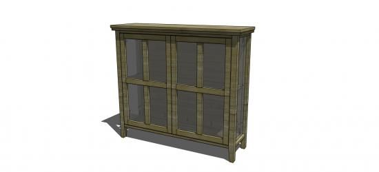 Free DIY  Furniture Plans: How to Build a Tangier Cabinet | The Design Confidential