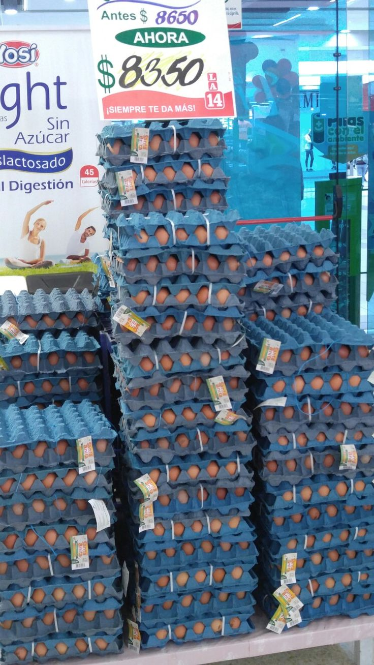 How they sell eggs in a Colombia grocery store.