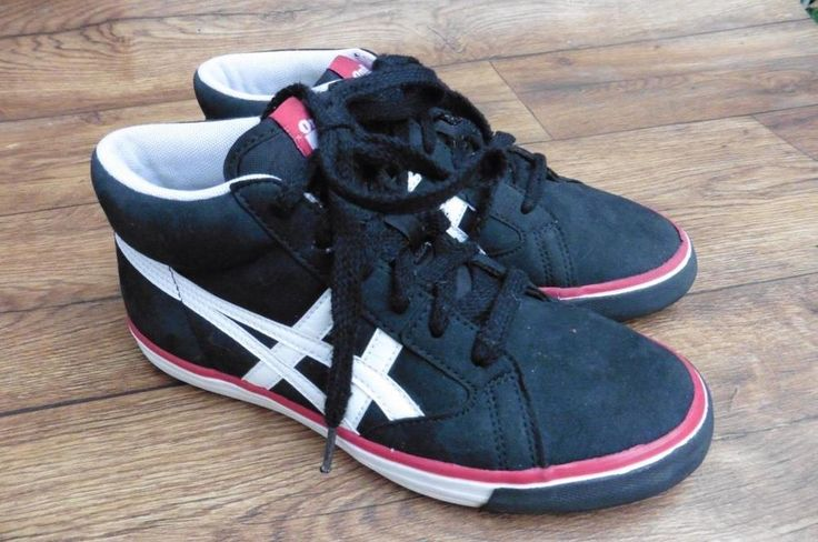 SIZE UK 4 ASICS ONITSUKA TIGER STRIPES FARSIDE TRAINERS HIGH TOPS BOOTS SHOES