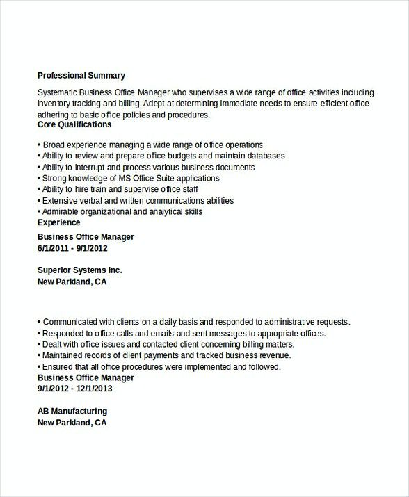 Business Office Manager Resume Bank Branch Manager Resume This