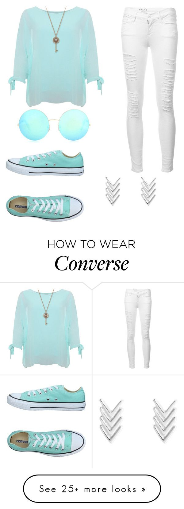 """Untitled #61"" by mianestasio on Polyvore featuring WearAll, Frame, Converse and Victoria Beckham"