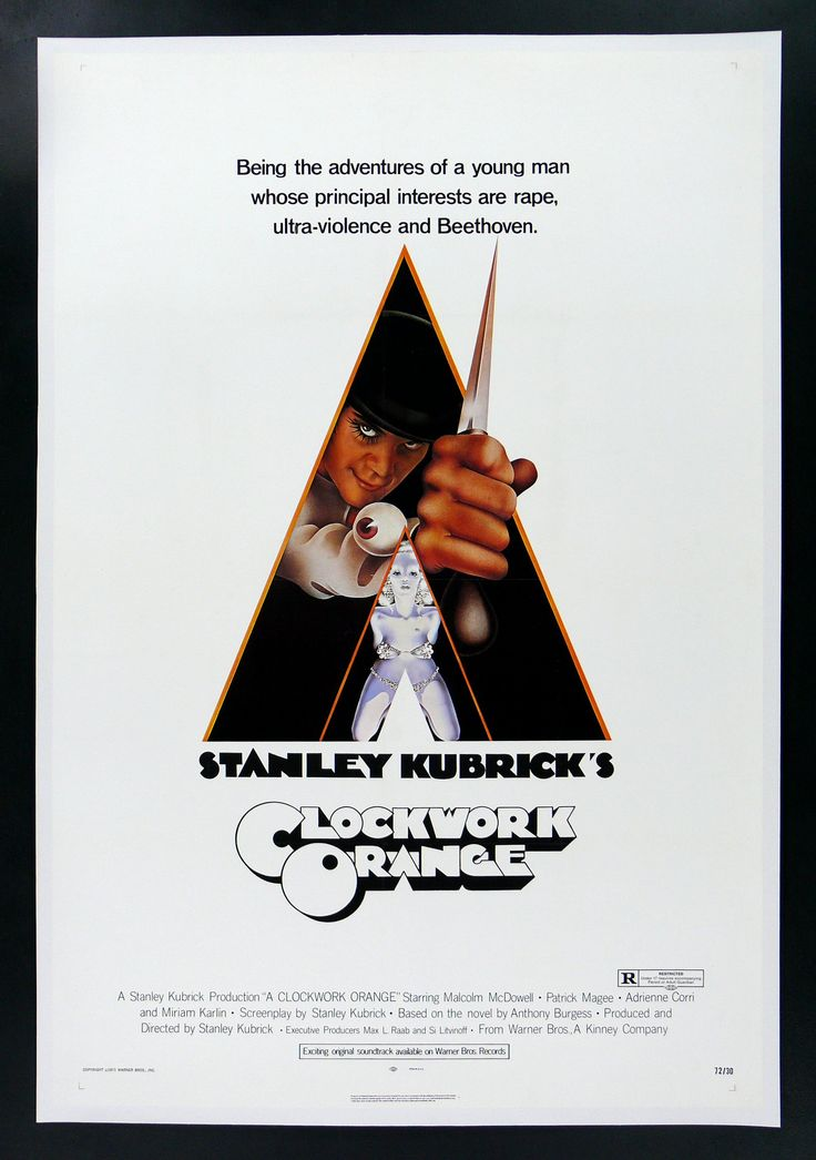 A Clockwork Orange   1970s Movie Posters   Pinterest A Clockwork Orange Movie Poster Original