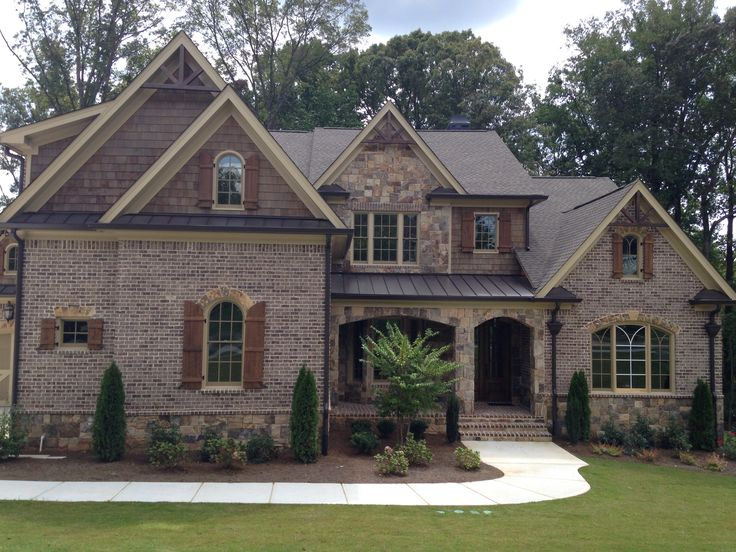 House plans stone brick exterior for Exterior home accents