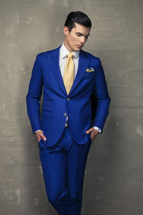 Mens Blue Suits With Brown Shoes