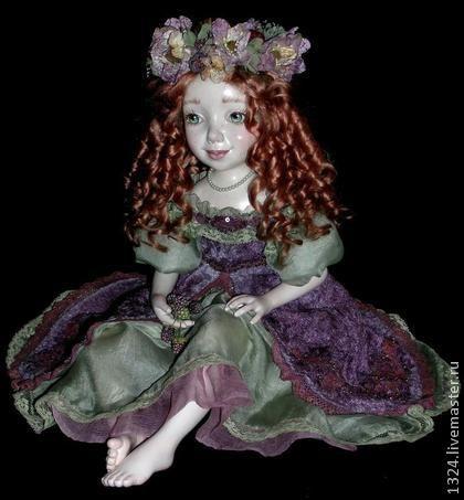 """Коллекционные куклы ручной работы. Кукла """"Фиона"""". Маргарита Дроздова. Интернет-магазин Ярмарка Мастеров. Ягоды из полимерной глины, Паперклей"""