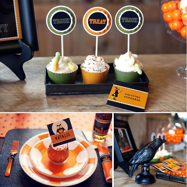 rustic_halloween_1Cupcakes Ideas, Kids Halloween Parties, Boos Parties, Fall, 3Rd Bday, 4Th Bday, Boos Halloween, Cupcakes Labels, Abbie Halloween