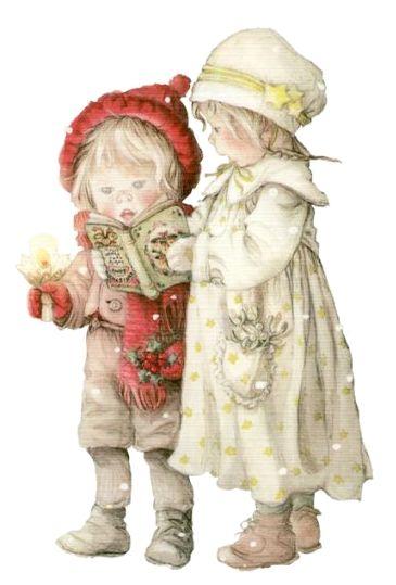 Stock Illustration Altmodisch Weihnachten Postkarte
