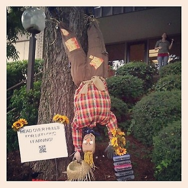 ED the scarecrow!  We have entered into the Dahlonega Women's Club 1st Annual Scarecrow Contest!