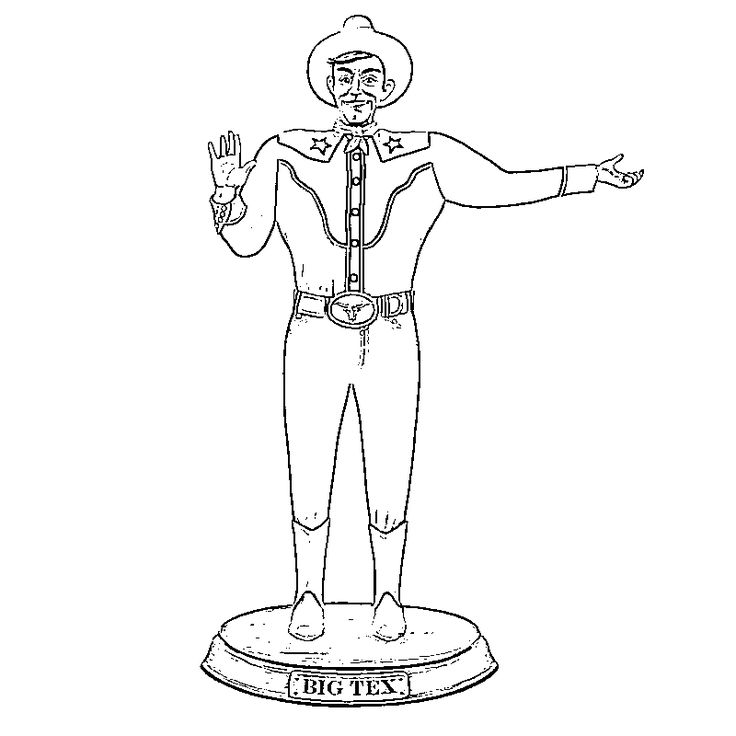 Big Tex Statue Coloring Pages Coloring Pages