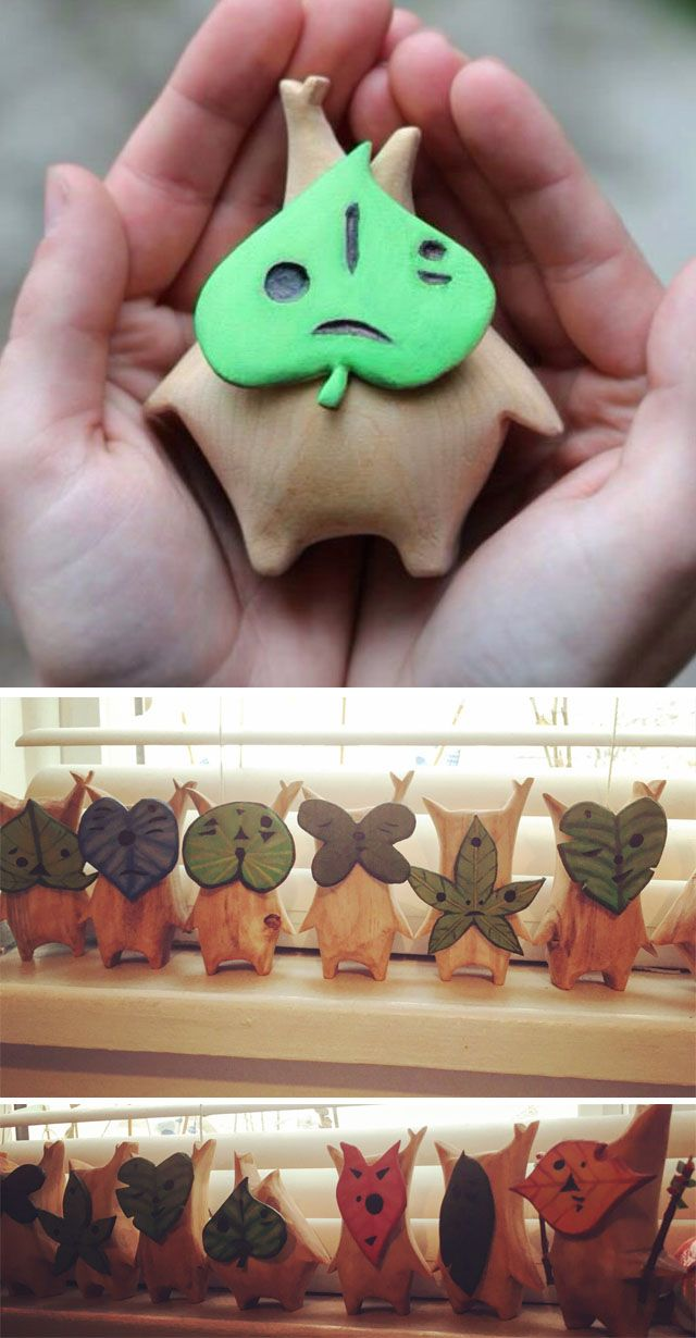 Hand Carved Korok Figures