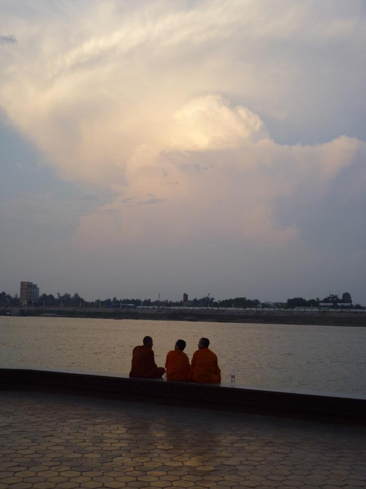 Monks. Phnom Penh, Cambodia