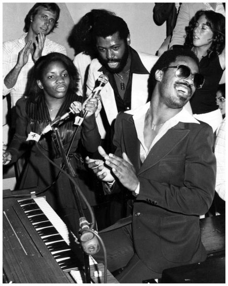 Stevie Wonder and Teddy Pendergrass at Studio 54, 1977