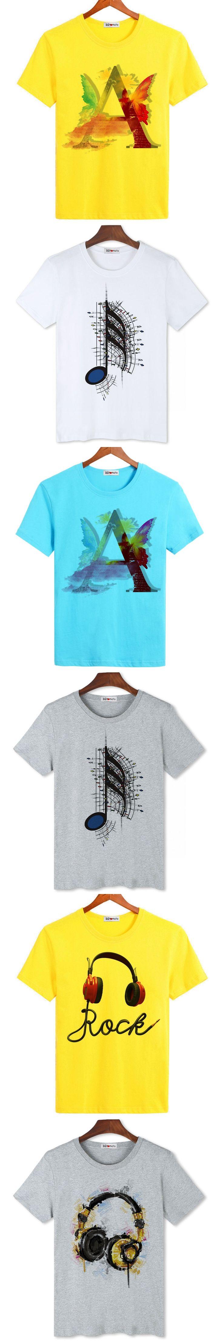 BGtomato love music art printing hot t shirts for men brand new fashion designer personality shirts cheap sale