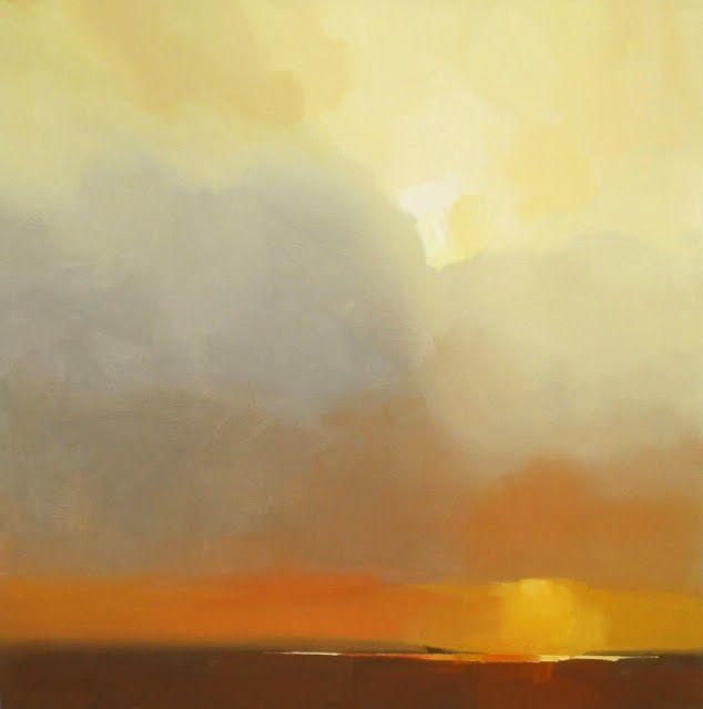Robert Roth, Title: LANDSCAPE #70 2013, 48x48 Acrylic, Oil stick on Canvas