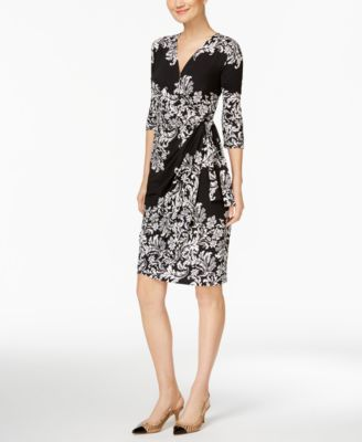 INC International Concepts Printed Faux-Wrap Dress, Only at Macy's   macys.com
