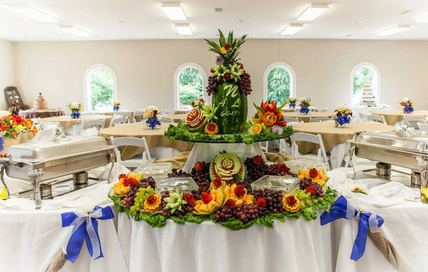 Breathtaking Fruit Display served as the centerpiece of this buffet line