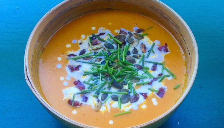 Cremet græskarsuppe med ingefær og kokos via http://carrotstick.dk