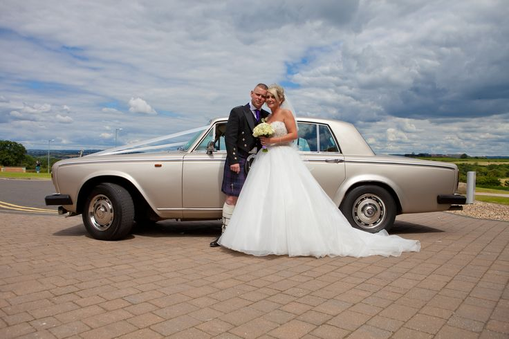 The beautiful lines of the Rolls Royce Silver Shadow 11- perfect for your classy wedding. Available from www.goldchoiceweddingcars.co.uk