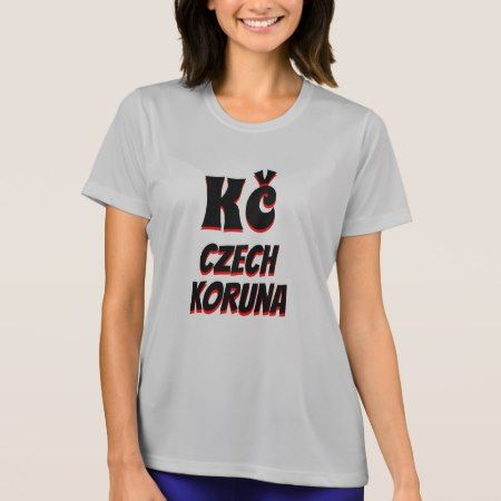 Kč Czech koruna grey T-Shirt - tap to personalize and get yours