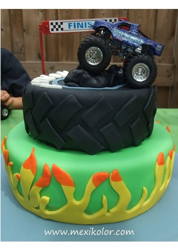 1000 Images About Monster Truck Party On Pinterest Monster Truck Birthday Cake