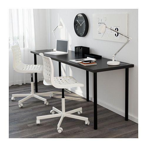 LINNMON / ADILS Tavolo - marrone-nero/nero - IKEA