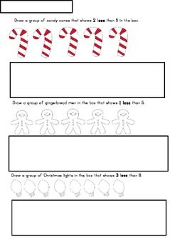 FREE! More & Less Christmas Activity