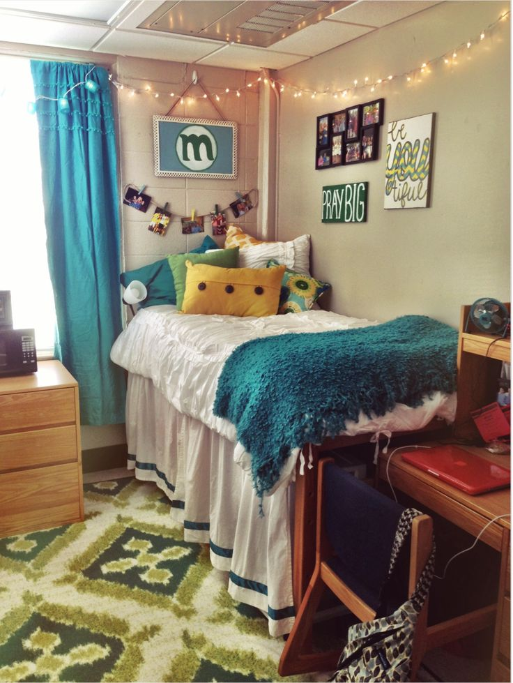 Decorating Ideas > Blue Green Yellow Dorm  Dorm Room  Pinterest  Dorm  ~ 113639_Dorm Room Ideas Blue