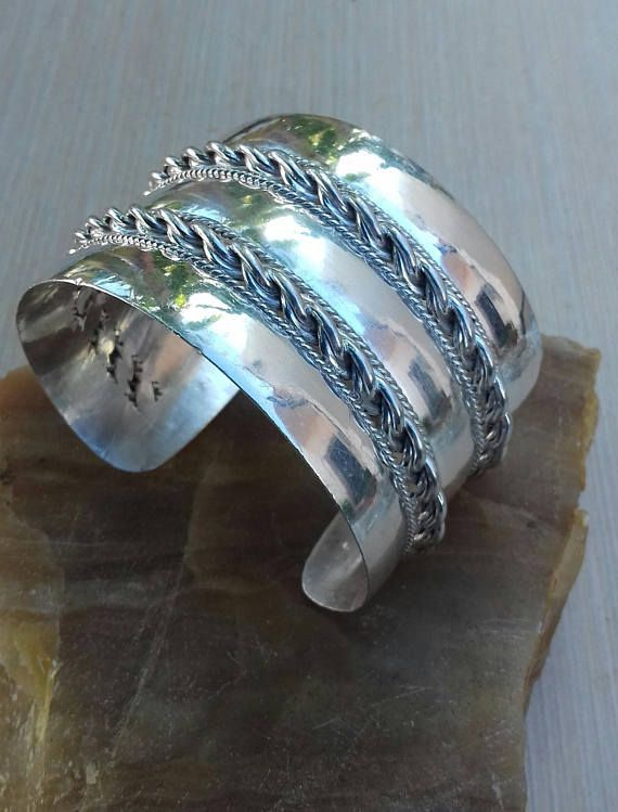 925 silver bracelet Silver cuff bracelet