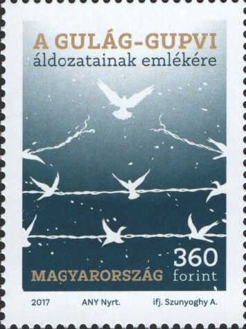 2017 Remembrance of Victims of Soviet Gulag and GUPVI labor camps. Design: 360fo, Dove and barbed wire