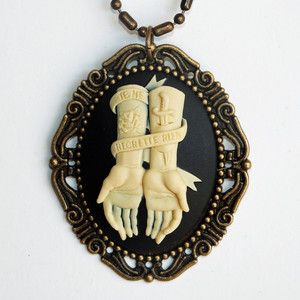 Miss Atomic Cameo Necklace now featured on Fab.