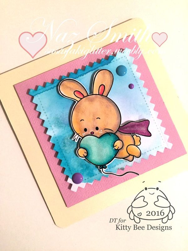 My latest project for Kitty Bee Designs using Super Bun Valentine.