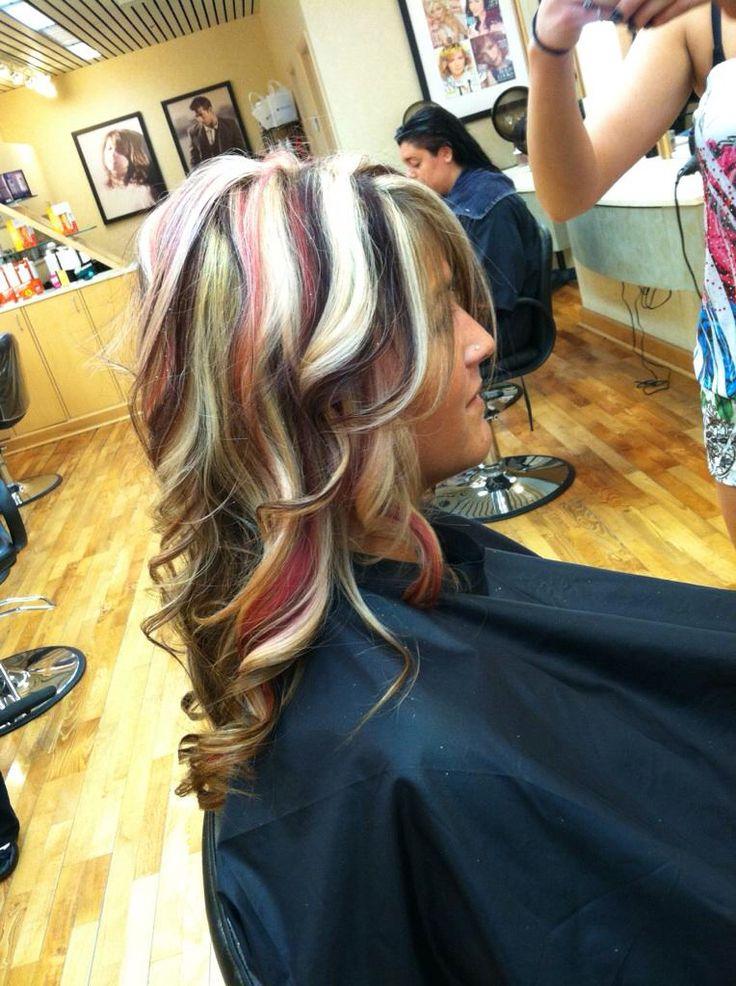 Red Blonde Black Hair 55