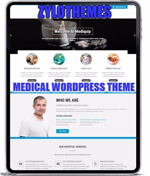 Mediquip Pro Responsive Medical WordPress Template Take a live demo https://goo.gl/4rvFBe BUY NOW ONLY ON $33 https://goo.gl/P2BZbf
