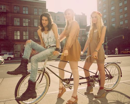 This chicks blog is seriously AWESOME!: Seriously Awesome, Chicks Blog, Tandem Bicycles, Fashion Photography