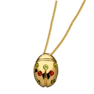 Ladies' Necklace in 18Kt Yellow Gold with diamonds, peridot, madera topaz by Flores Gioielli Personal Jewels