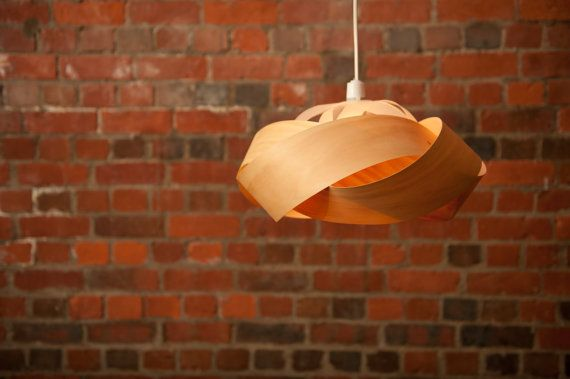 """A pendant light shade hand made in the Bay of Plenty, New Zealand. Crafted from sustainable, plantation grown New Zealand pine, copper pins, ~16"""" x 6""""$165"""