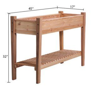 Arboria EZ Plant Cedar Elevated Garden Bed - It's easy to get growing with the Arboria EZ Plant Cedar Elevated Garden Bed. Perfect for keeping herbs, flowers, or veggies on a porch or patio...