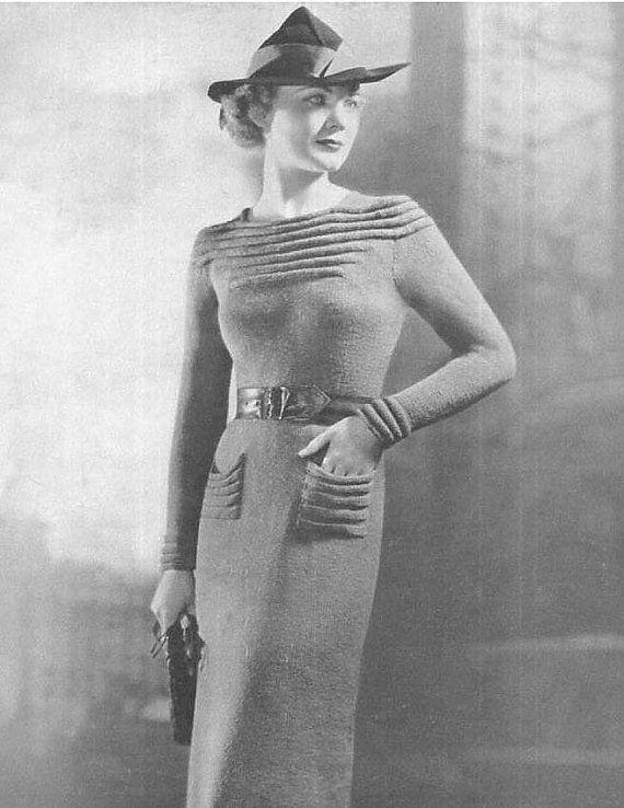 Vintage PDF Knitting Pattern Suits Coats Blouse by Dazespast