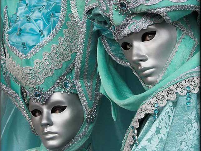 Mascaras de Veneza.: Venice Carnivals, Carnivals Costumes, Venetian Masks, Blue, Carnival, Mardi Gras, Aqua, Carnivals Masks, Masquerades
