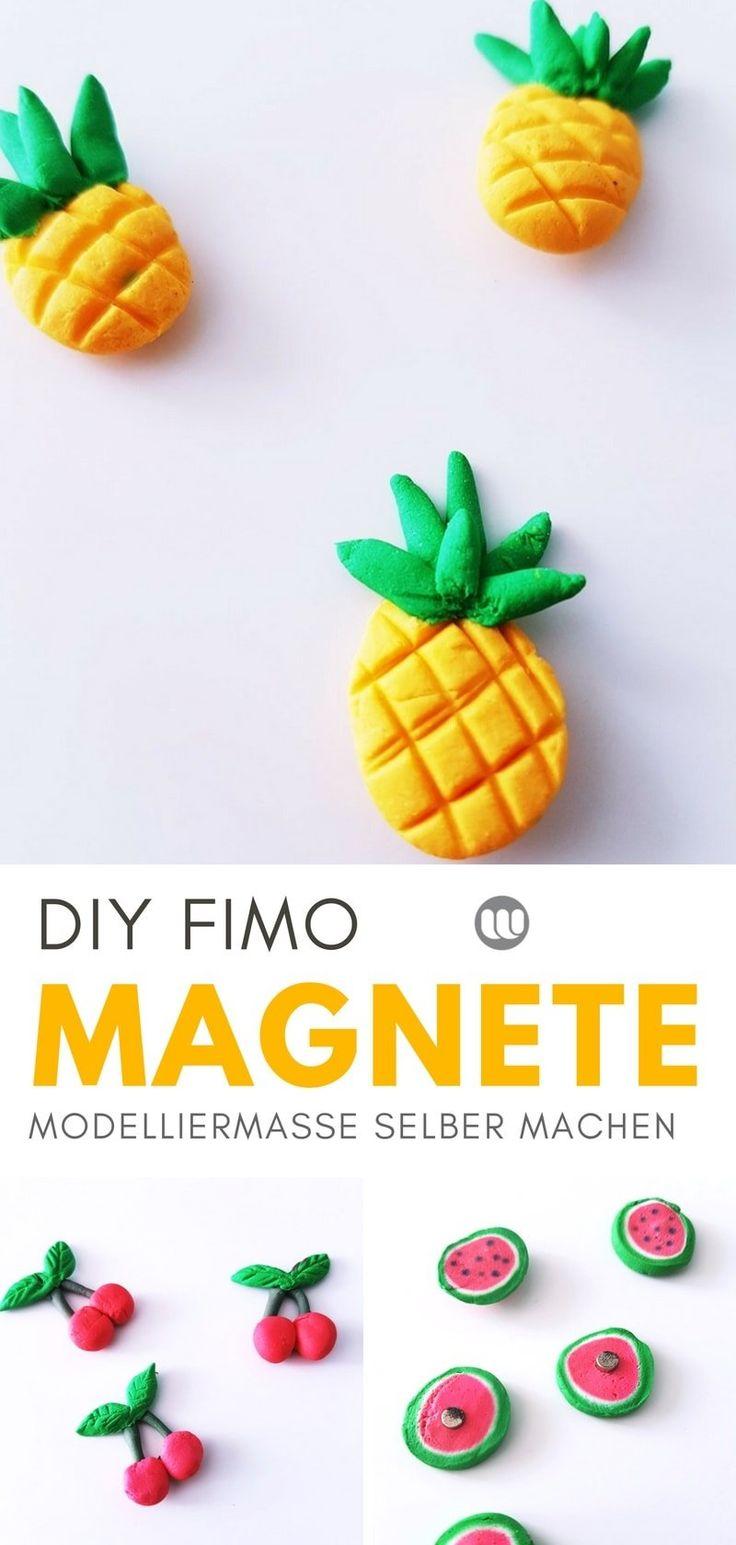 DIY Kühlschrankmagnete: Fruchtige Magnete aus Modelliermasse